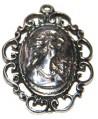 Medalla 43x33mm paso 3mm, zamak baño de plata
