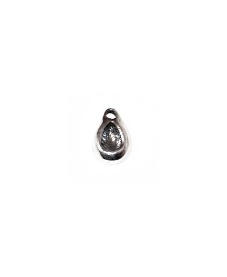 COLGANTE  15x10mm paso 2mm para swarovski 4328, zamak baño de plata