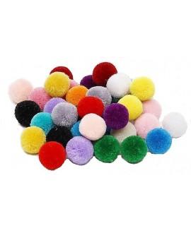 Mix pompones alta calidad 20mm, precio por 15 unidades