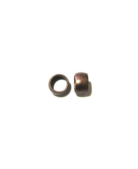 Cuenta paso grande 23x17mm agujero 16mm, zamak baño de cobre