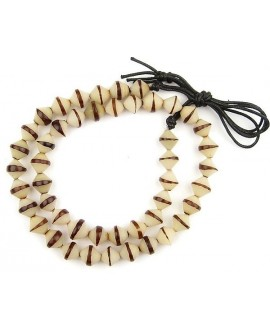 Cuentas de semillas naturales talladas Bicone de Kenia, 12/14x13/14mm paso 1mm, precio por ristra