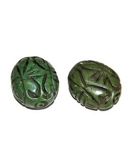 Cuentas tallada de jade  35x30mm paso 1,5mm