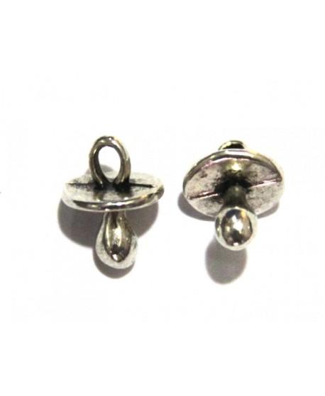 Chupetin 13x10mm plata antigua precio por 20 unidades