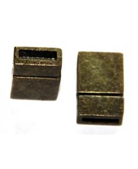 Cierre imán 13x21mm, agujero 3x10mm, bronce