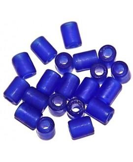 Tubo cristal indio Frosted  8x6mm paso 3mm, precio por 20 unidades