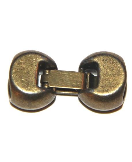 Cierre regaliz bronce 10x7mm