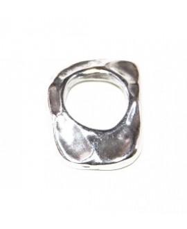 Colgante para pendientes 25x2mm paso 1mm zamak baño de plata