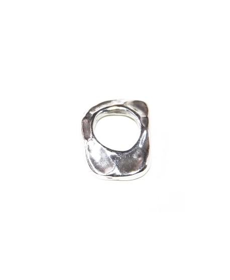 Entre-pieza 25x20x4mm, zamak baño de plata
