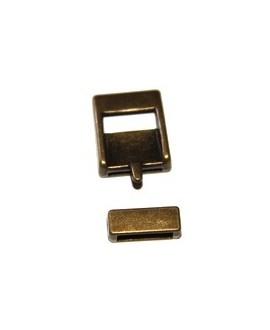 Cierre hebilla bronce 25x20mm, paso 15mm