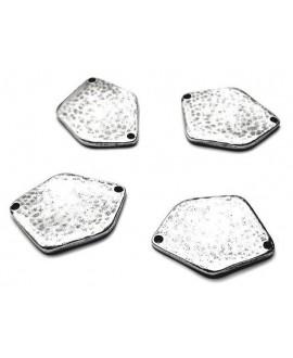 Entre-pieza 30x22,5mm paso 1,5mm, zamak baño de plata