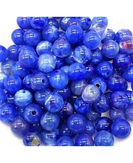 Cuenta resina azulón 6mm paso 1mm, precio por 30 unidades