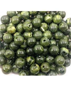 Cuenta resina verde 10mm paso 1,5mm, precio por 15 unidades