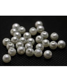 Perla acrílica (arrugada) calidad superior 8mm, paso 1,5mm, precio por 60 unidades