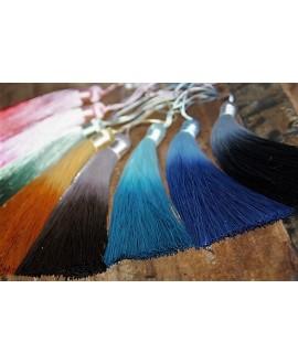 Borla de seda 13cm de largo, hechas a mano