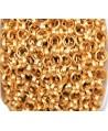 Cadena aluminio rolo oro mate 10mm, venta por metro