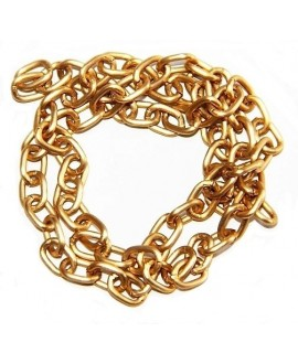 Cadena aluminio oro mate 1,4mm, venta por metro