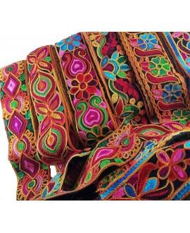 Cinta étnica arco iris 6 cm de ancho, precio por metro