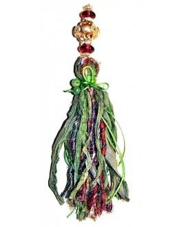 Borla seda sari 20cm, hechas a mano