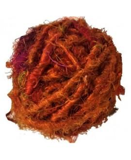 Hilo reciclado de seda sari, 4/5mm, precio por metro