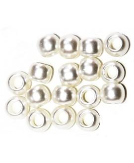 Perla acrílica 12mm paso 5mm, precio por 10 unidades