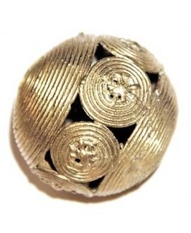 Cuenta de bronce 40mm, paso 4mm