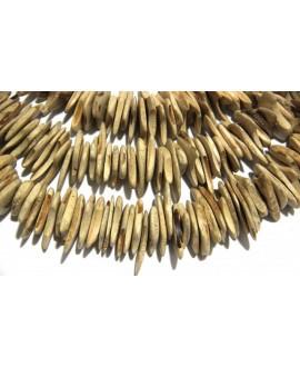 Chips coco 8-15x14-19mm agujeri 1mm 130 piezas por tira