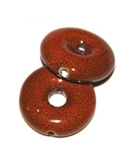 Donut naranja puntos 26x26x8mm, paso 6mm, agujero 2mm