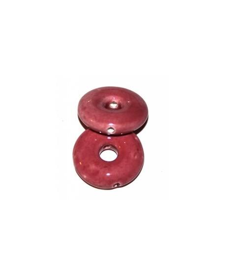 Donut rosa 26x26x8mm, paso 6mm, agujero 2mm
