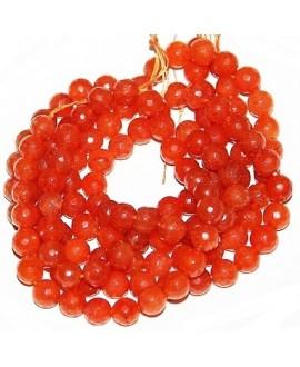 Cuentas jade naranja 8mm, precio por ristra