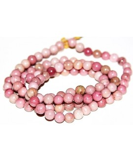 Rhodonite natural 8mm, precio por ristra