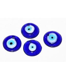 Colgante ojo turco de cristal griego 20mm, paso 2mm