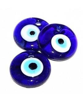 Colgante ojo turco de cristal griego 40mm, paso 3mm