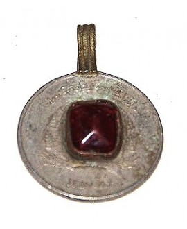 Moneda cristal rojo tribu kuchi 28mm