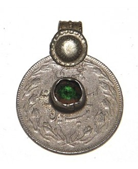 Moneda antigua con cristal, 30mm