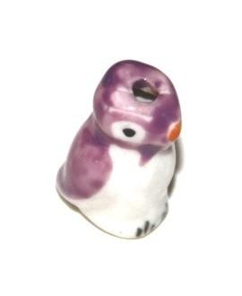 Pinguino ceramica morado 15mm