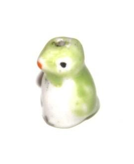 Pinguino ceramica verde 15mm