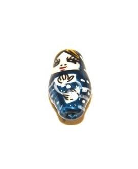 Rusa cerámica azul 20mm, 2mm