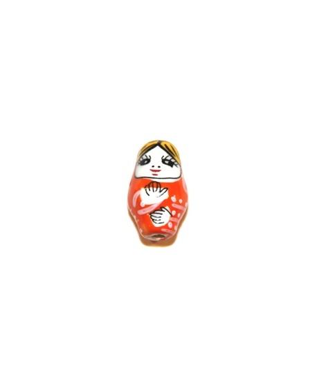 Rusa cerámica naranja 20mm, 2mm