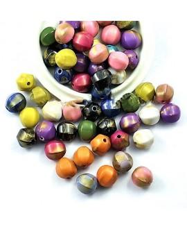 Mix cuentas acrílicas limitación cerámica 13mm, precio por 25 unidades