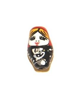 Rusa cerámica  rojo-negro 20mm, 2mm