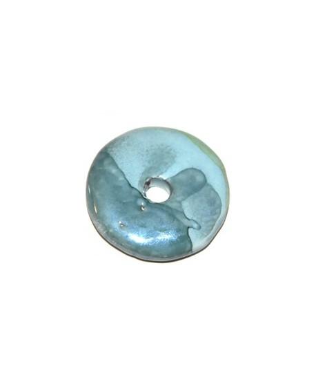 Donut cerámica azul 33mm, paso 5mm
