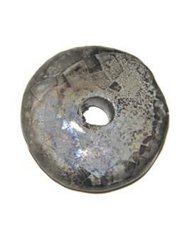 Donut cerámica gris 33mm, paso 5mm