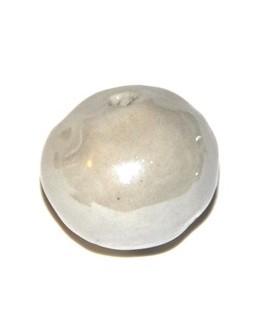 Porcelana blanca roto redonda 25x20mm, paso 2,5mm