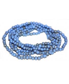 Vidrio reciclado azul mate, Ghana , precio por ristra, 5/6mm paso 2mm