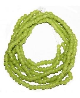 Vidrio reciclado verde pistacho mate, Ghana , precio por ristra, 5/6mm paso 2mm