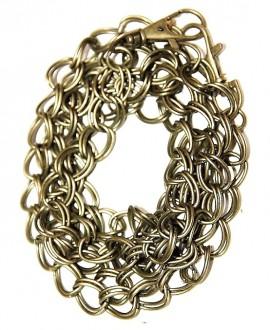 Cadena bronce doble anilla 14x10x1mm, precio por 116 cm y dos mosquetones