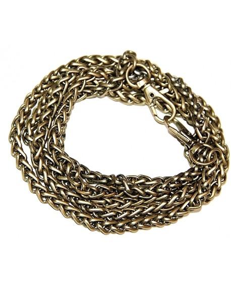 Cadena bronce serpiente 6mm, precio por metro