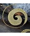 Pendientes espiral de latón