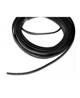 Cuero plano 5x2mm negro alta calidad, precio por metro