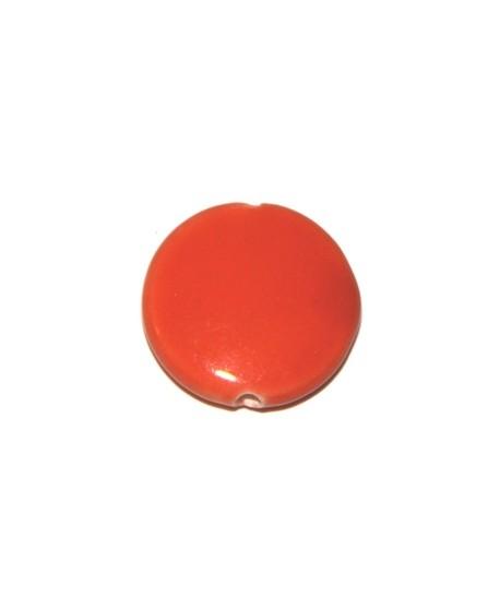 Porcelana moneda naranja 20mm, paso 2mm